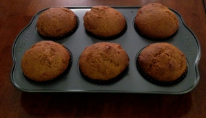 Fresh, out-of-the-oven pumpkin muffins!