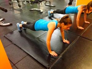basic yoga plank