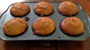 warm, fresh baked banana walnut muffins!
