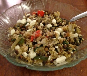 me leftover lunch - served cold with feta!