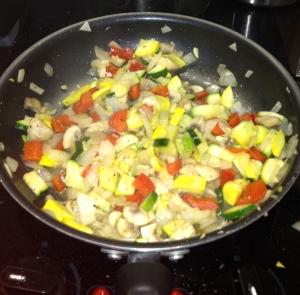 I added yellow squash this time!