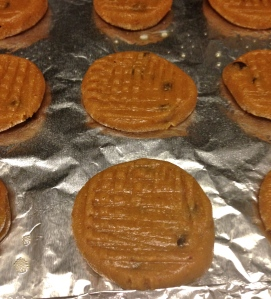Ready to bake in the oven - just a few minutes until peanut butter-y goodness!