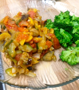 Sauce one way: I poured my sauce over chicken and served it with broccoli - yum!